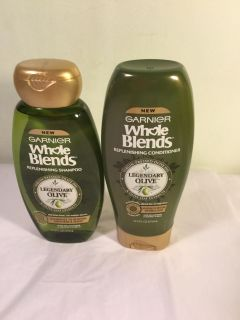Whole blends legendary olive shampoo and conditioner set