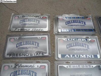College team metal license plate frames