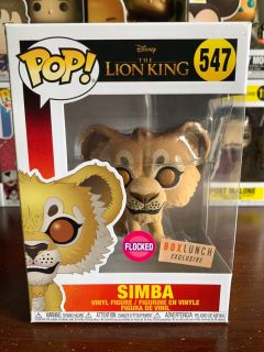 Lion King Flocked Simba Boxlunch Exclusive Funko Pop