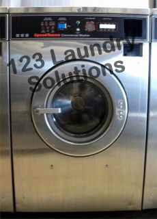 Coin Operated Speed Queen Front Load Washer 208-240v Stainless Steel SC27MD2AU20001 Used