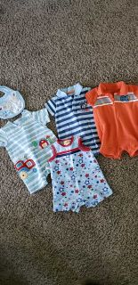 Set of 4 summer boy rompers 0-3month