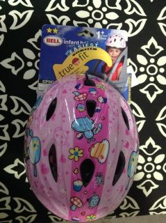 New Bike Girl Helmet Infant Small 12 months - 3 years