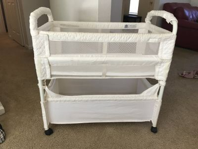 Arms Reach Baby Co Sleeper Bassinet Bed White Natural