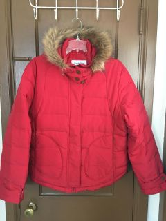 Red Calvin Klein winter coat. Size XLarge. Very nice and in great condition!