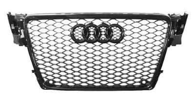 Sell 2009 2010 2011 2012 AUDi A4 B8 GLOSS BLACK RS4 TYPE MESH SPORT GRILLE +BLK BADGE motorcycle in Watertown, Massachusetts, United States, for US $159.90