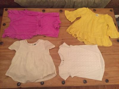 Pretty little girls Tops and Romper Size 4T