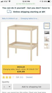 Ikea changing table and pad