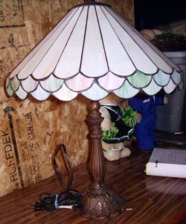 Tiffany Type Lamp With Antique Brass Finish