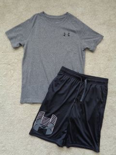 NEW Boys Under Armour Shorts and Top sz. Large