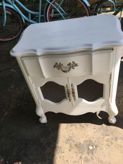 Solid wood french provincial nightstand/side table