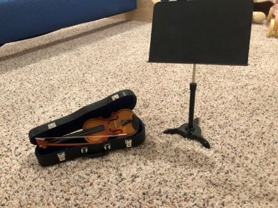 American Girl doll violin and music stand
