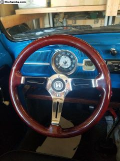 """14"""" wood steering wheel"""