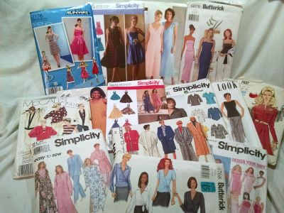 Lot of sewing patterns