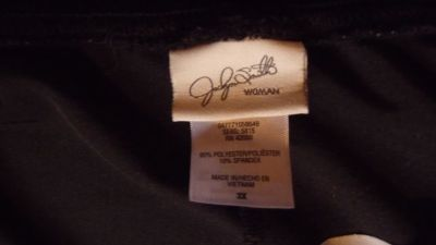Woman's Black Velour Holiday Pants Size 3X (Good for Wheelchair users)