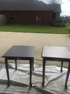 Two provincial end tables -great chalk paint project pieces!