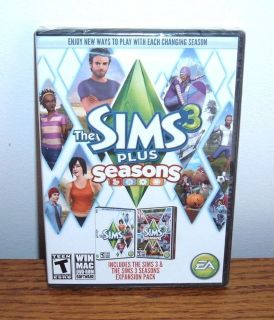 NEW The Sims 3 PLUS Seasons PC DVD Base Game & Expansion Pack SEALED Windows Mac