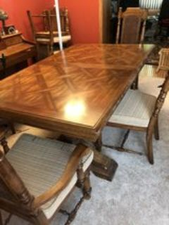 Dining Table and 6 chairs with china cabinet