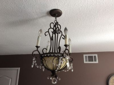 Chandelier Empire Style Oil Rubbed Bronze