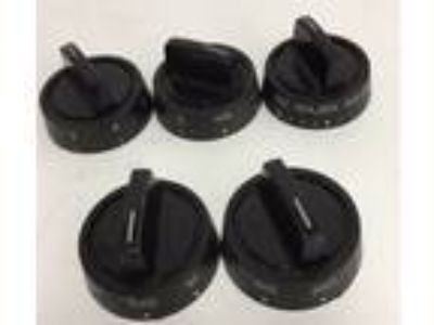 Set of 5 Vintage Electric Stove Knobs Dials~Tappan~
