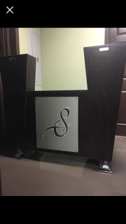 Salon Reception Desk- (vinyl decal on front can be customized for your business!)