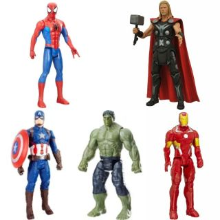 bundle of 5 superhero action figures* all in great condition*