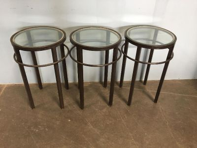 Metal / Glass Tables ($15 each of all 3 for $30!!)