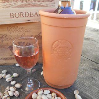 Rustic French Terracotta 'Vin Frais' Wine Brick.