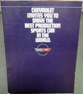 Purchase Original 1984 Chevrolet Corvette Sales Brochure Magazine Insert Sports Car motorcycle in Holts Summit, Missouri, United States, for US $12.84