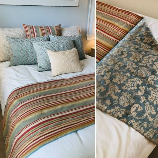 Custom Pillows and Bed Scarf