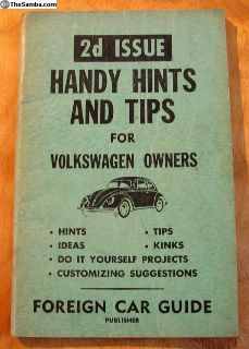 1961 2d Handy Hints and Tips for Owners