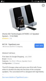 Apple iHome Stereo System