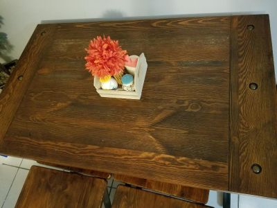 Ashley furniture table and bench chairs