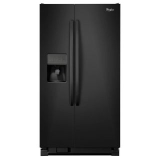 Whirlpool Black or White 24.5 cu. ft. Side by Side Refrigerator WRS325FDAB/WRS325FDAW
