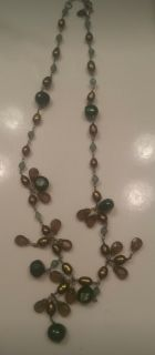Handmade necklace - brown and green
