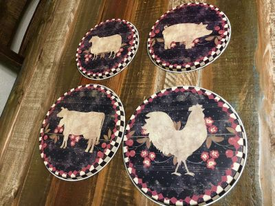 Brand new farm theme stove top covers
