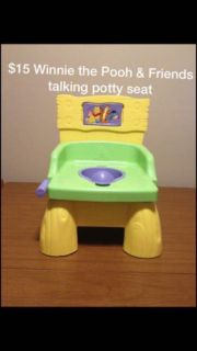 Winnie the Pooh and friends talking potty chair