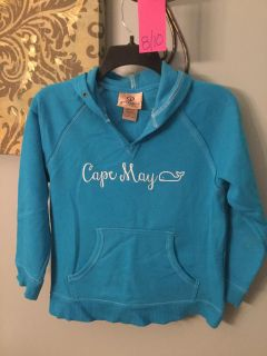 Cape May hoodie- blue - worn once - EUC