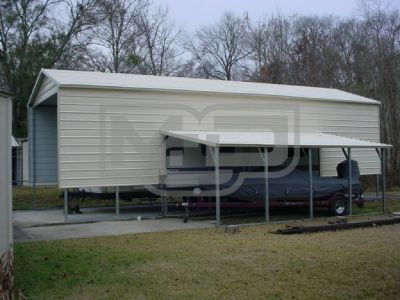Remarkable A-Frame Vertical Roof Metal RV Carports