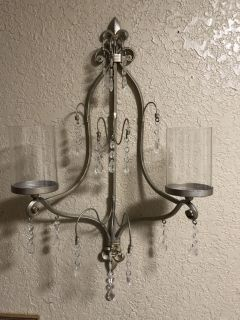 Set of 2 Large Chandelier Sconces from Home Interior