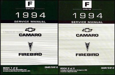 Find 1994 Chevy Camaro and Z28 Original Shop Manual 2 Volume Set 94 Repair Service motorcycle in Riverside, California, United States, for US $69.00