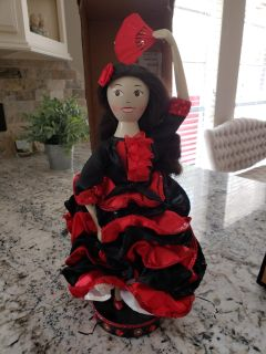 Collectable wood doll
