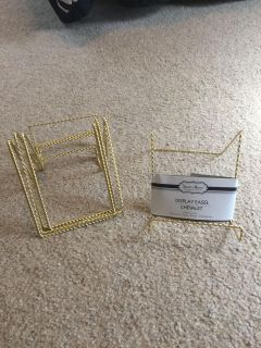 Gold display easels