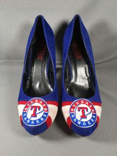Texas Rangers Micro suede Pumps Size 8 Her Star