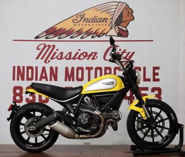 $6,785, 2016 Ducati Scrambler Icon 62 Yellow