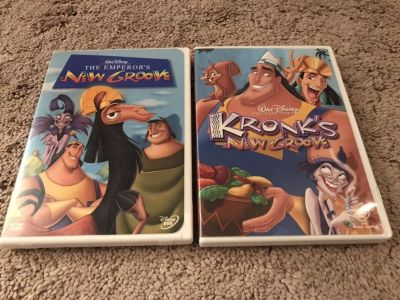 Disney Emperor s New Groove and Kronk s New Groove DVDs, Excellent Condition