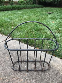 Wrought iron basket. I planted flowers in it *Porch Pickup*
