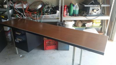 credenza / desk top with file cabinet
