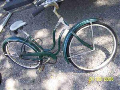 $65 Green&White Girls Fender Bike Schwinn Spitfire1950's era (mt.vernon/cedar rapids
