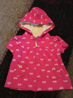 Carters 6m pink bike jacket - ppu (near old chemstrand & 29) or PU @ the Marcus Pointe Thrift Store (on W st)