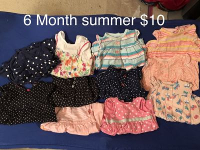 Baby girl 6 month summer clothes
